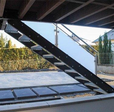 Terrasse escalier