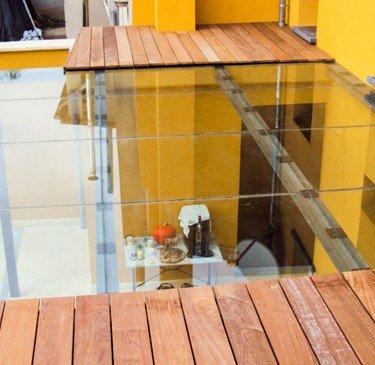 Terrasse en verre